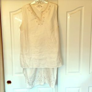 2pc skirt size 3x top size 3x linen